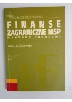 Finanse zagraniczne MSP. Wybrane problemy