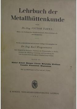 Lehrbuch der metallhuttenkunde