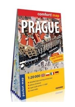 Comfort!map Prague 1:20 000 midi plan miasta