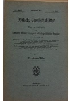 Deutsche Geschichtsblatter 3, 1913r.