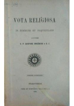 Vota religiosa - 1892 r.