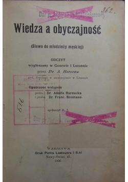 Wiedza o obyczajność ,1906r.