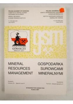 Gospodarka surowcami mineralnymi. Mineral Resources Management