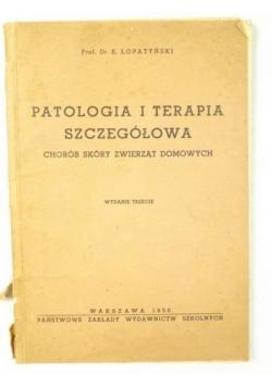 Patologia i terapia szczegółowa chorób skóry zwierząt domowych,   1950 r.
