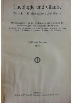 Theologie und Glaube, 1938r.