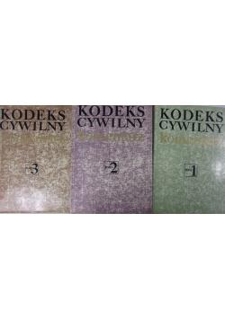 Kodeks cywilny, Tom I - III