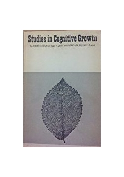 Studies in Cognitive Growth