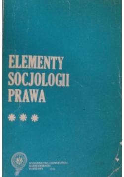 Elementy socjologii prawa ,tom III