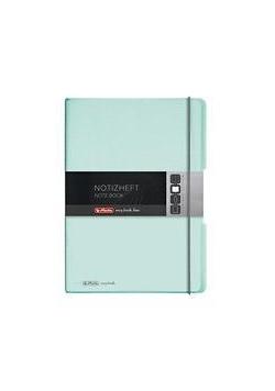 Notatnik A4/2x40K kratka+linia My.BookF pas. mięta