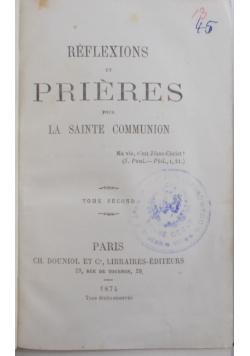 Reflexions et Prieres, 1874 r.