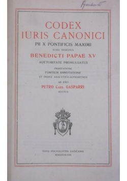 Codex Iuris Canonici, 1948 r.
