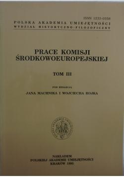 Prace komisji środkowoeuropejskiej, tom III