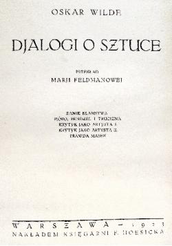 Djalogi o sztuce, 19234.