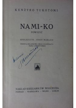 Nami-ko powieść,1924r.