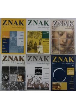 ZNAK miesięcznik, zestaw 6 książek