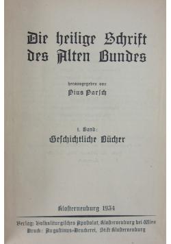 Die Heilige Schrift des Altes Bundes, 1934r.