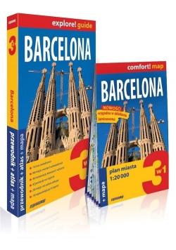 Barcelona explore! Guide 3w1: przewodnik + atlas + mapa