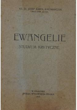 Ewangelie studyum krytyczne, 1915r.