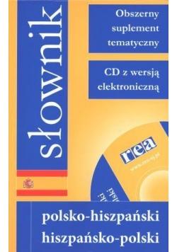 Słownik pol-hiszp-pol z supl. tematycznym REA