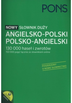 PONS Nowy słownik duży angielsko-polski, polsko-angielski