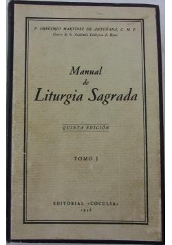 Manual de Liturgia Sagrada Tom I, 1938 r.