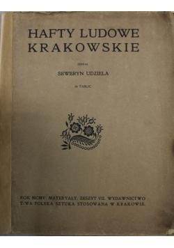 Hafty Ludowe Krakowskie 1905 r.