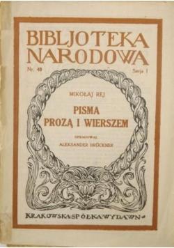 Pisma prozą i wierszem, BN, 1921 r.