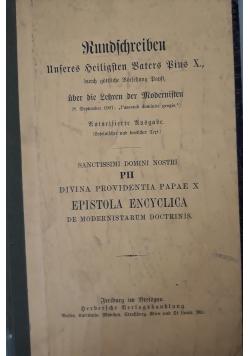 Kundichreiben unferes heiligften baters bins X, 1907 r.