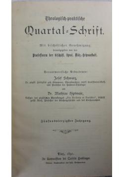 Theologisch praktische Quartalschrift, 1892r.