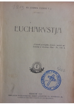 Eucharystja , 1921r.