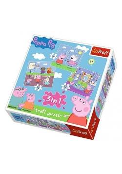 Puzzle 3w1 Zabawy w szkole TREFL