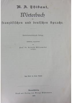 Wörterbuch der französischen und deutschen Sprache, 1905 r.