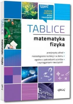 Tablice: matematyka + fizyka GREG