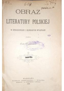 Obraz Literatury Polskiej Tom III