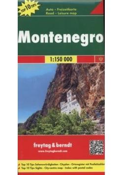 Czarnogóra mapa drogowa 1:150 000. Nowa