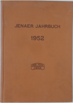 Jenaer Jahrbuch 1952