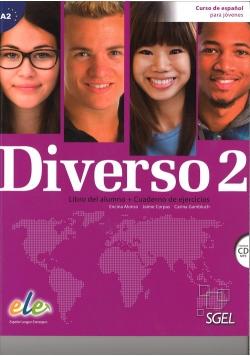 Diverso 2 podręcznik + ćwiczenia + płyta CD audio