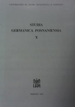 Studia germanica posnaniensia