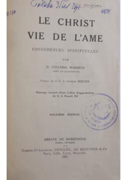 Le Christ Vie De L'Ame, 1921 r.