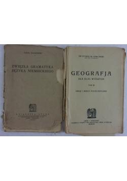Zwięzła gramatyka języka niemieckiego/Geografja dla klas wyższych, tom III, ok.1924 r.