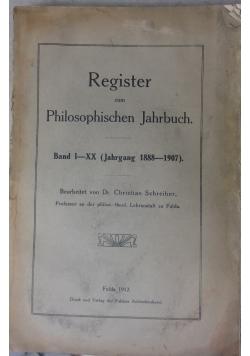 Register zum Philosophischen Jahrbuch, 1912r.