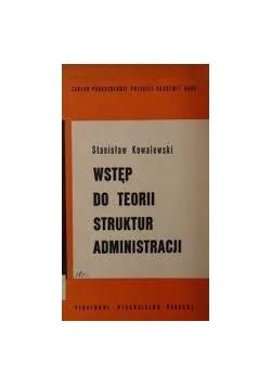 Wstęp do teorii struktur administracji