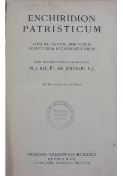 Enchiridion Patristicum, 1922r.