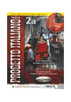 Nuovo Progetto Italiano 2A Podręcznik z ćwiczeniami + płyta DVD + płyta CD, Nowa