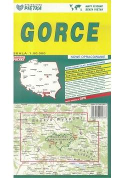 Gorce 1:50 000 mapa turystyczna PIĘTKA