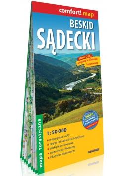 Beskid Sądecki laminowana mapa turystyczna 1:50 000