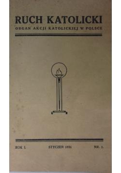 Ruch katolicki organ akcji katolickiej w polsce , 1931r.
