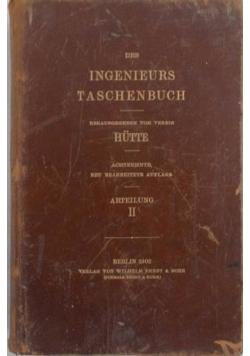 Des Ingenieurs Taschenbuch , 1902 r.