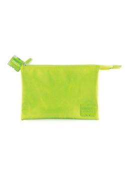 Piórnik saszetka na suwak zielona, 3 kieszenie