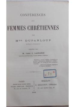 Conferences aux femmes chretiennes, 1881 r.